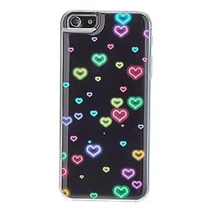 HC-Patrón del amor colorido estuche rígido para el iPhone 5/5S Epoxi