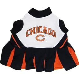 Pets First NFL Chicago Bears Dog Cheerleader Dress, Medium