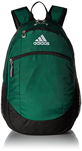 - adidas Unisex Striker II Team Backpack, Dark Green/Black/White, One Size
