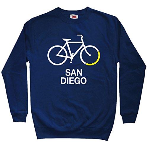 Smash Transit Men's Bike San Diego Sweatshirt - Navy, X-Large