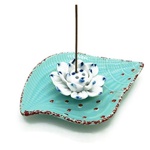 Incense Stick Holder - Conch Shape Porcelain Incense Burner Bowel - Decorative Ceramic Incense Ash Catcher Plate Tray (Incense Burner Pot)