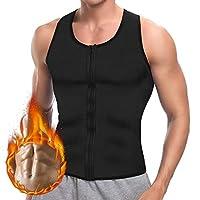 Hootech Men Sweat Waist Trainer for Weight Loss Zipper Hot Neoprene Workout Tank Top Vest Shirt Body Shaper Gym Sauna Corset Compression