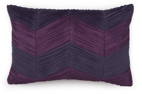 Collier Campbell Ziggurat Chevron Raw Edge Pleat Decorative Pillow