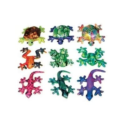 Colorful Glitter Sand Animals Toss Toy, Set of 3 (Turtle, Frog, Gecko): Toys & Games