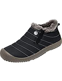 Womens Snow Boots Mens Winter Outdoor Ankle Booties with Fur