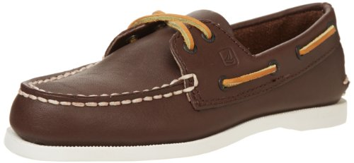 Sperry Top-Sider Boys' Authentic Original Boat Shoes,Brown Leather, 6.5 Big Kid (Sperry Top Sider Boys Billfish Boat Shoes)