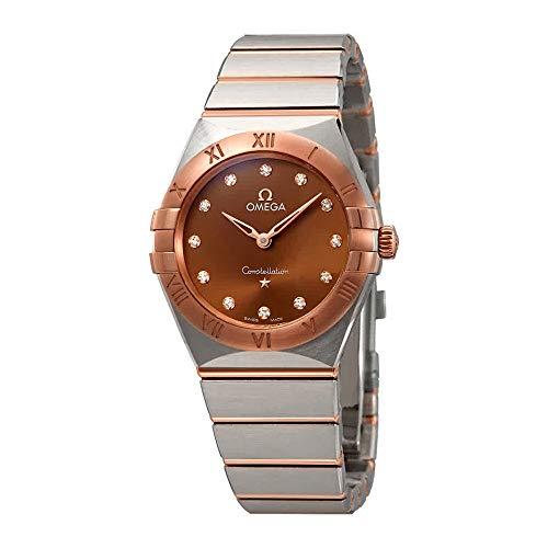 Omega Constellation Manhattan Sun-Brushed Brown Diamond Dial Ladies Watch 131.20.28.60.63.001