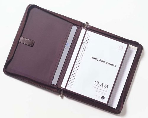 Clava Tuscan Leather Extreme File Padfolio - Tuscan Black by Clava