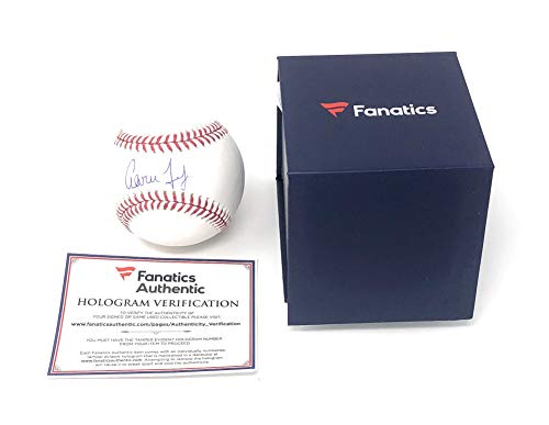 (Aaron Judge New York Yankees Signed Autograph Official MLB Baseball Fanatics Authentic Certified)