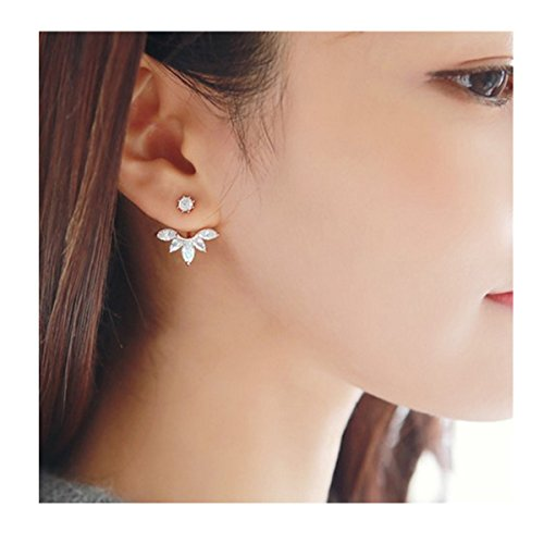 - Edtoy Alloy Korean Style Daisy-shaped Women's Earrings (Silvery)
