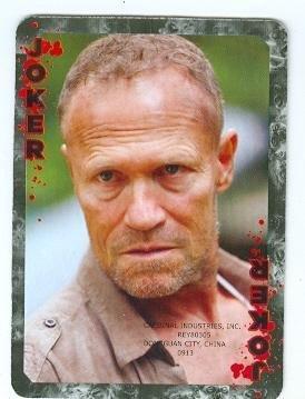 - Merle Dixon Walking Dead trading card Poker Joker Michael Rooker