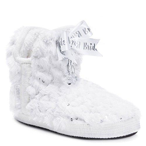 Muk Luks Mujeres Krystal Bridal Amira Zapatillas Blancas