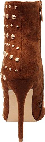 Puoliväliin Boot Pohkeen Kengät Teräväkärkiset Imsu Korkokenkiä Kamelin Nastoitettu Valitse Suljettu Cambridge Naisten Stiletto HwqOUxz