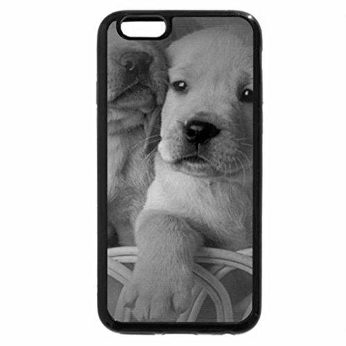 iPhone 6S Plus Case, iPhone 6 Plus Case (Black & White) - Cute labradores