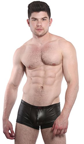 Spank Me Boxer Brief (Medium, Black) - Stitch High Cut Brief