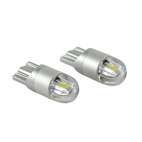 Pinzhi Pinzhi 2pcs T10 LED Canbus 2SMD 3030 Outline Marker ampoule W5W 194 Wedge Intérieur Light