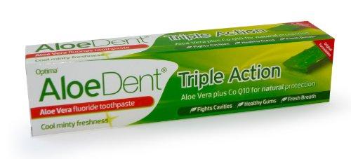 (Aloe Dent Triple Action Aloe Vera Fluoride Free Toothpaste)