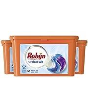 Robijn Stralend Wit Wasmiddel 3-in-1 Wascapsules, voor de Witte Was - 3 x 40 Wasbeurten - Grootverpakking
