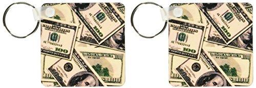 3d Rose 3dRose 100 Dollar Bill Pattern - Key Chains, 2.25...