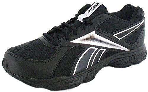 Herren Reebok Turnschuhe Leichte Running Jogging Laufschuhe - Schwarz / Silber - Größe 40-47 - Schwarz / Silber, 43
