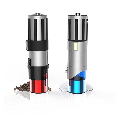 Star Wars Lightsaber Electric Salt and Pepper Mill Grinder (Pack of 2)