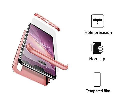 BESTCASESKIN Funda Xiaomi Redmi S2, Carcasa Móvil de Protección de 360° 3 en 1 Desmontable con HD Protector de Pantalla Carcasa Caso Case Cover para ...