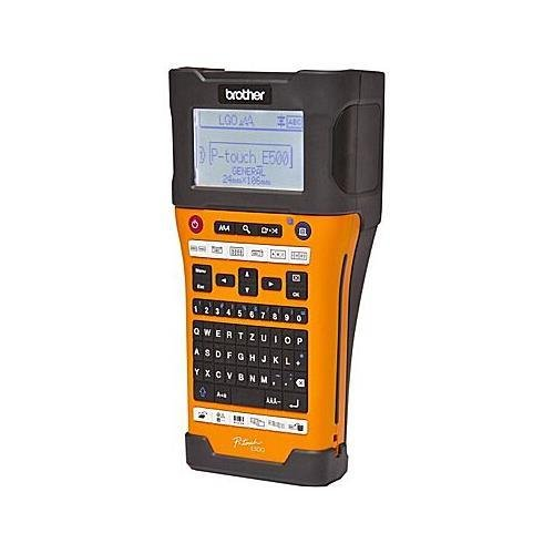 Brother PTE500 Industrial Handheld Labeling Tool w/ Auto Cutter&Computer Connectivity