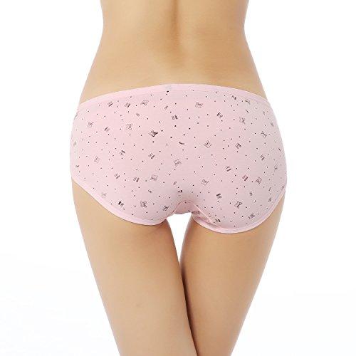 FZmix Pregnant Underwear Pregnancy Low-Waist Women Maternity Panties Cotton Intimates Briefs Pink
