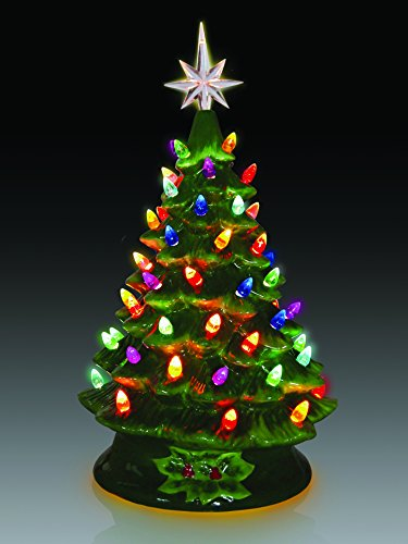 ReLIVE Christmas Is Forever Lighted Tabletop Ceramic Tree (14.5'' Green Tree/Multi Color Lights) by ReLive (Image #1)