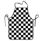 OKAYDECOR Funny Cooking Apron - BBQ Grill Kitchen Chef Barbecue Gifts - One Size Fits Most - Race Waving Checkered Flag