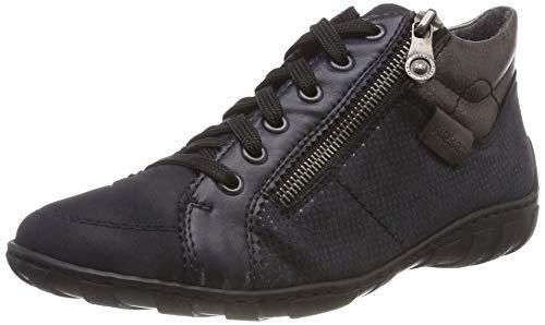 basalt navy pazifik Sneaker Collo 14 Rieker Alto altsilber pazifik A Blu M37a0 Donna f4nPwaq