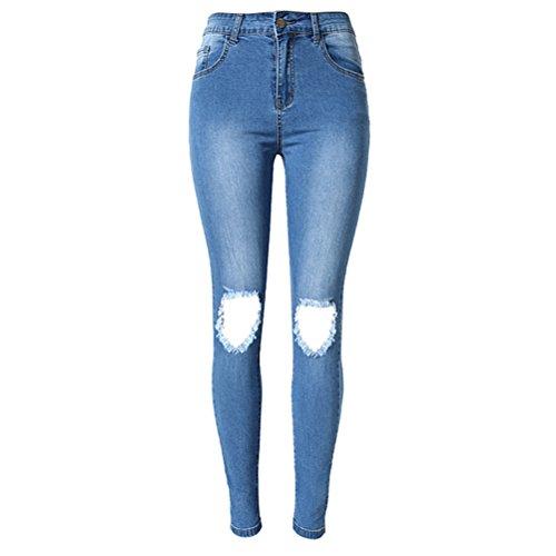 Elastico amp;bianco Denim Blu Jeans Attrezzato Zhuhaitf Qualità Pants Moda Autunno Ghette Signore Confortevole Pantaloni S1Hawwxn