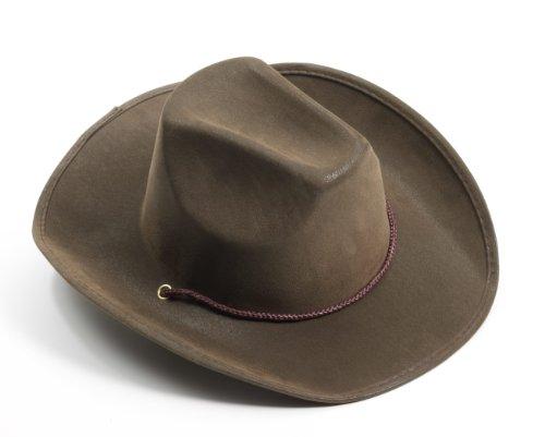 Forum Novelties Men's Novelty Adult Suede Cowboy Hat, Brown, One Size