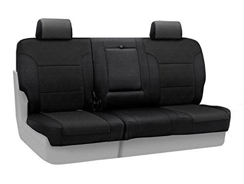 coverking-custom-fit-rear-60-40-bench-seat-cover-for-select-saturn-vue-models-spacermesh-solid-black