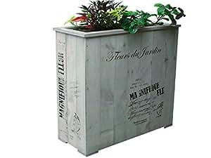 Jardinera Magnifique gris autoadhesivo madera pino 30x 30x 80h Jardín Estern Casita