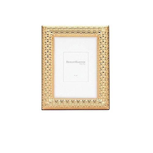Reed & Barton Watchband Satin Gold Frame, 4'' x 6'' by Reed & Barton