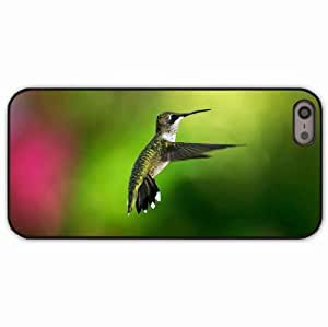 iPhone 5 5S Black Hardshell Case hummingbird background flight Desin Images Protector Back Cover
