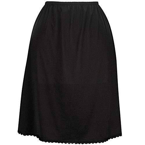 Valair Women's Classic Half Slip Skirt, 100% Nylon, 20 Inch, Medium, Black