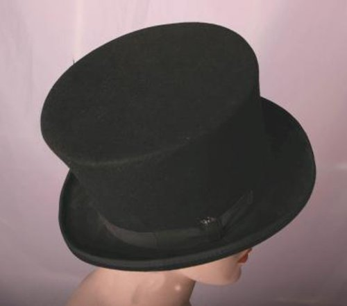 Topper Hats (HMS Bell Topper Hat 8 Inch, Black, One Size)