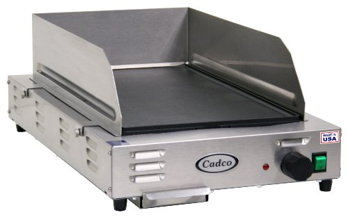 Cadco CG-5FB Space Saving Countertop 120-Volt Electric Griddle