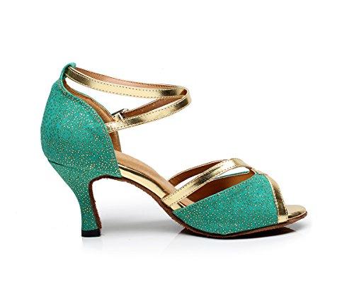 Minitoo - Zapatillas de danza para mujer verde verde DruCejB