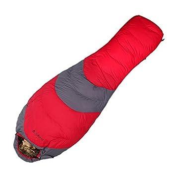 JSJDFPDC Saco de Dormir de Invierno Piscina Abajo para Clima Frío Trekking Hiking Camping Bolsas de Dormir Momia de Nylon Bolsa de Dormir Adulto,Rojo: ...