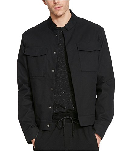 - Kenneth Cole REACTION Men's Crop Military Blazer, Black, X-Large