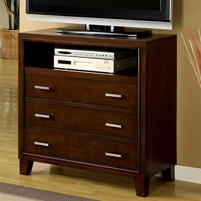 Enrico Media Chest in Brown Cherry Finish by Furniture of America by Furniture of America