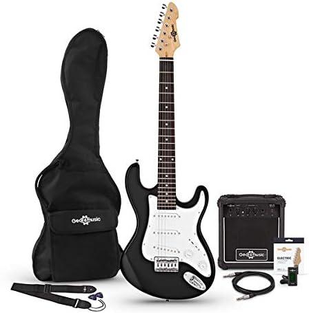 Set de Guitarra Electrica 3/4 LA + Amplificador Black: Amazon.es: Instrumentos musicales