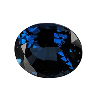 Blue Lab Sapphire Unset Loose Gem Oval 11mm by ugems