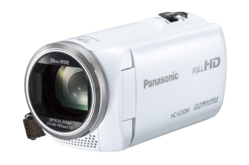 Panasonic デジタルハイビジョンビデオカメラ 内蔵メモリー8GB ホワイト HC-V230M-W