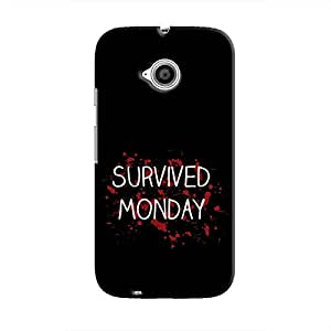 Cover It Up - Monday Survivor Moto E2 Hard Case