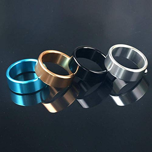 Christmas Gifts Ring Adult Toys New Thicker Metal Aluminum Rings Male Ring Delayed Casing Delay Lock Loops Adult Product Toys for Men,Black,45mm