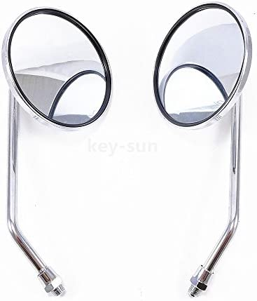 Key-Sun Pair 10mm Chrome Motorcycle Scooter Mirrors For Honda CB 350 450 550 600 650 750 900
